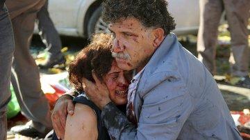Пострадавшие при взрыве в Анкаре, 10 октября 2015