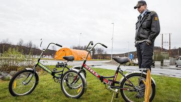 Велосипеды, на которых беженцы пересекли российско-норвежскую границу