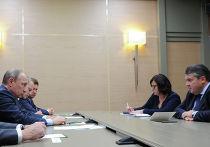Встреча президента РФ В.Путина с вице-канцлером Германии З.Габриэлем