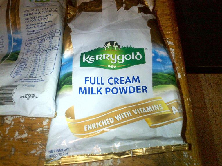 Сухое молоко, в котором был найден кокаин