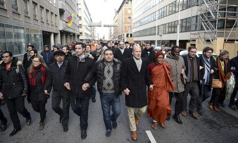 Марш к французскому посольству в Хельсинки
