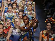 Показ коллекции Dolce&Gabbana на Миланской неделе моды