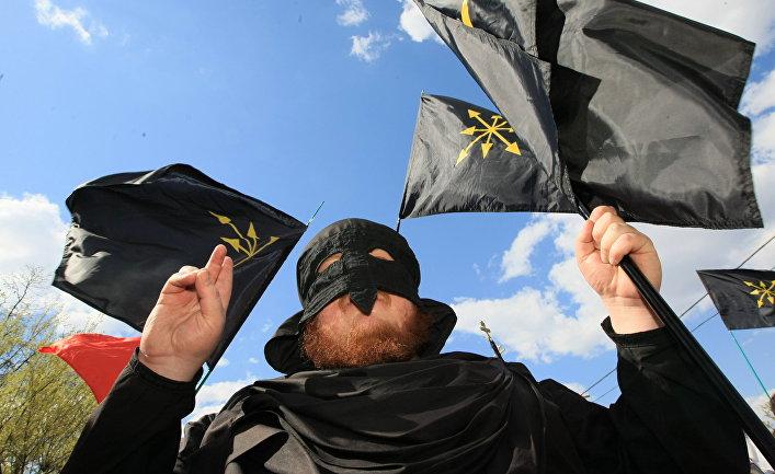 """""""Сербский марш"""" в поддержку территориальной целостности Сербии, организованный «Евразийским союзом молодежи»"""