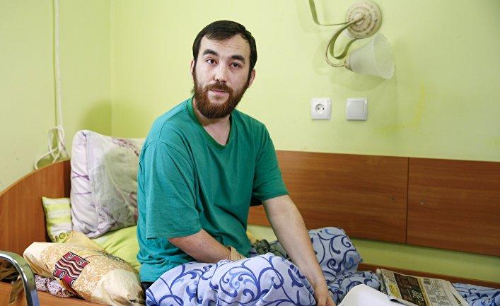 Российский военный Евгений Ерофеев, задержанный на Украине, в госпитале Киева 28 июля 2015