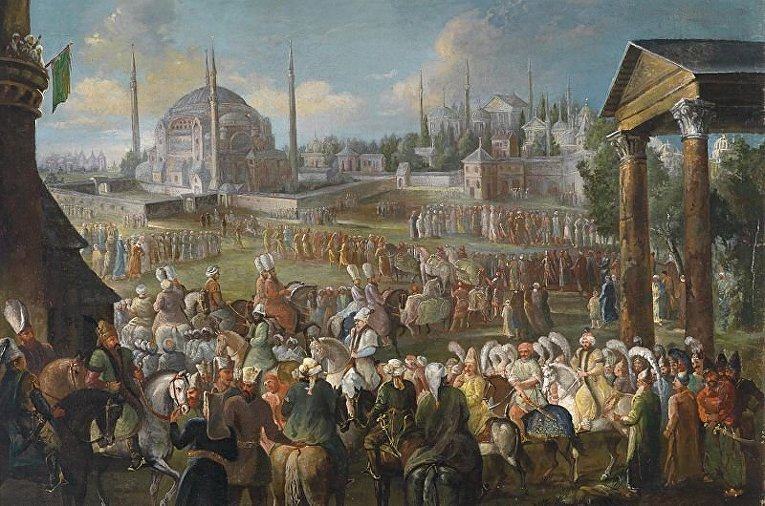 «Шествие Султана в Стамбуле« Жана Батиста ван Мура
