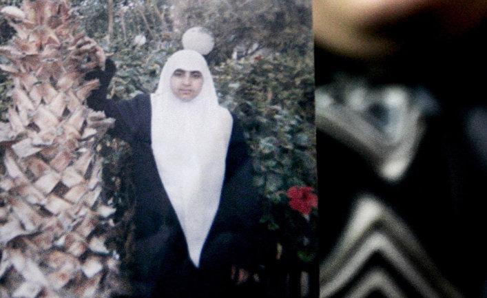 Фотография палестинской террористки-смертницы Мерфат Масуд