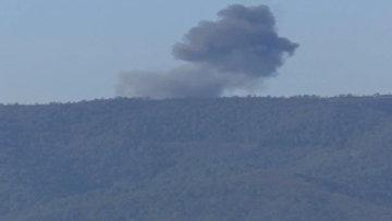 Российский самолет Су-24, сбитый турецким истребителем на турецко-сирийской границе
