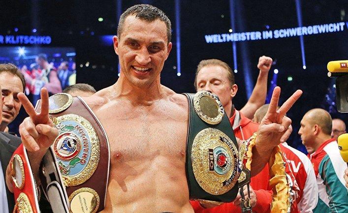 Владимир Кличко после победы над Кубратом Пулевым