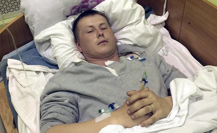 Cержант Александр Александров в больнице в Киеве