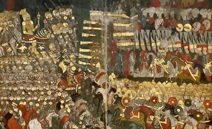 Мохачская битва 1526 года на оттоманской миниатюре
