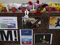 Акция в память погибшего пилота Су-24 Олега Пешкова в Симферополе