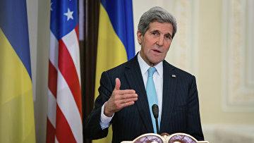Государственный секретарь США Джон Керри в Киеве. Архивное фото