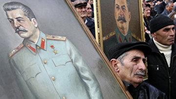 Празднование дня рождения Иосифа Сталина в его родном городе Гори