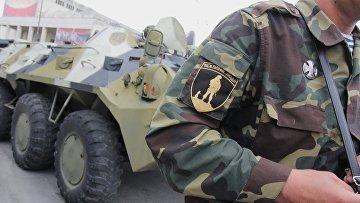 Бойцы самообороны Крыма в Симферополе