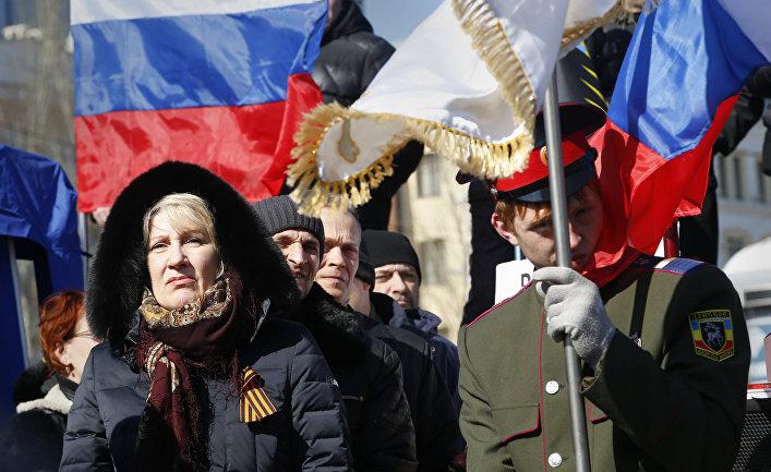 Пророссийский митинг в Донецке, март 2014 года