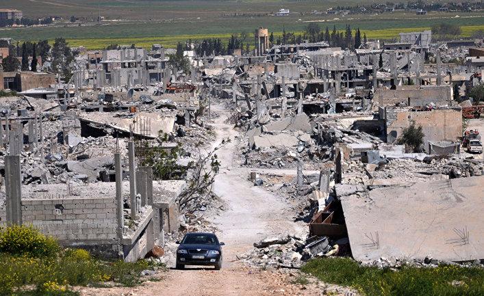 Район Кобани, разрушенный во время столкновений между боевиками Исламского государства (запрещена в РФ) и бойцами курдского сопротивления