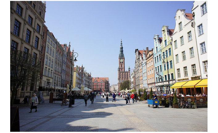 Одна из улиц Гданьска, Польша