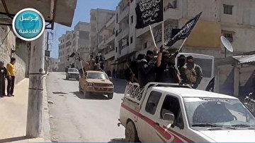 Боевики «Фронта аль-Нусра» в провинции Идлиб в Сирии