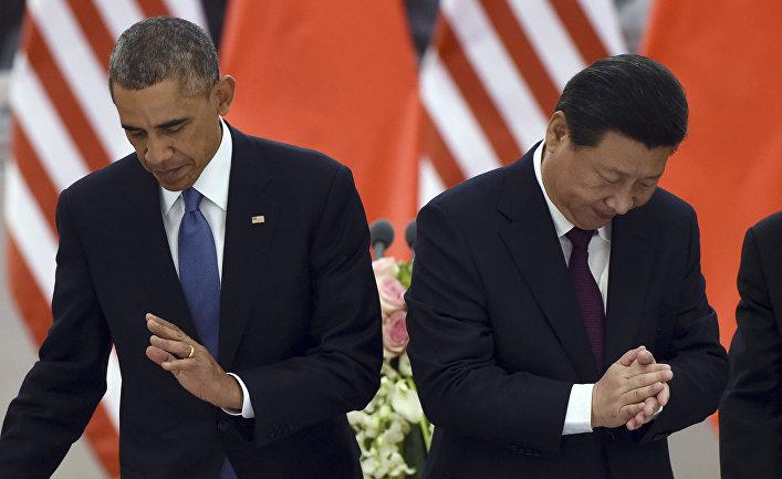Барак Обама и Си Цзиньпин во время встречи в Пекине