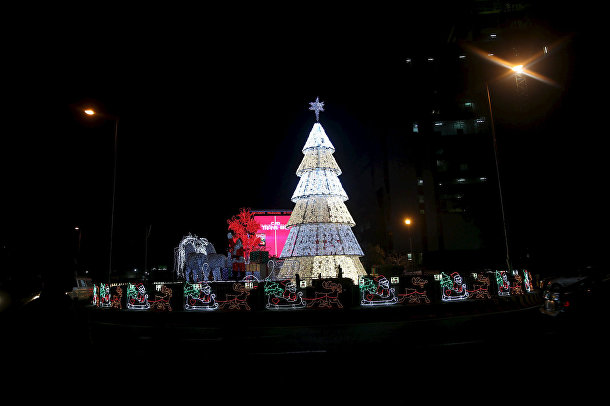 Рождественская елка в Лагосе, Нигерия