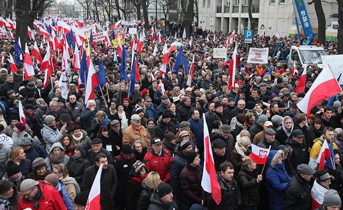 Акция протеста в Варшаве