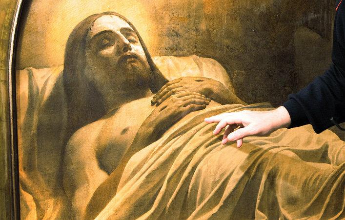 "Фрагмент картины Карла Брюллова ""Христос во гробе"""