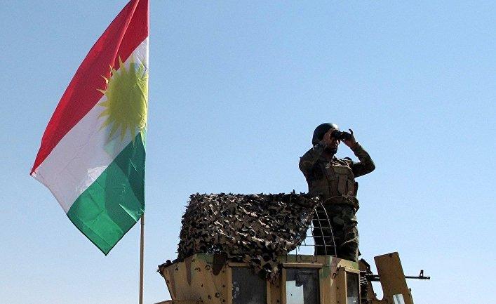 Курдские силы безопасности в городе Киркук на севере Ирака