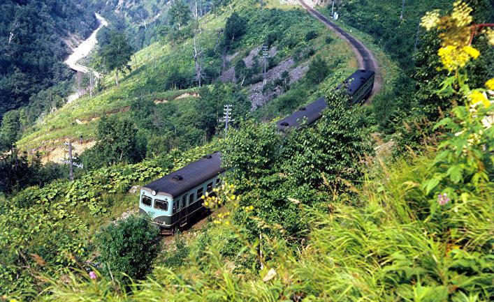 Участок железной дороги Южно-Сахалинск-Холмск
