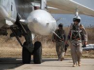"""Российская боевая авиагруппа на аэродроме """"Хмеймим"""" в Сирии"""