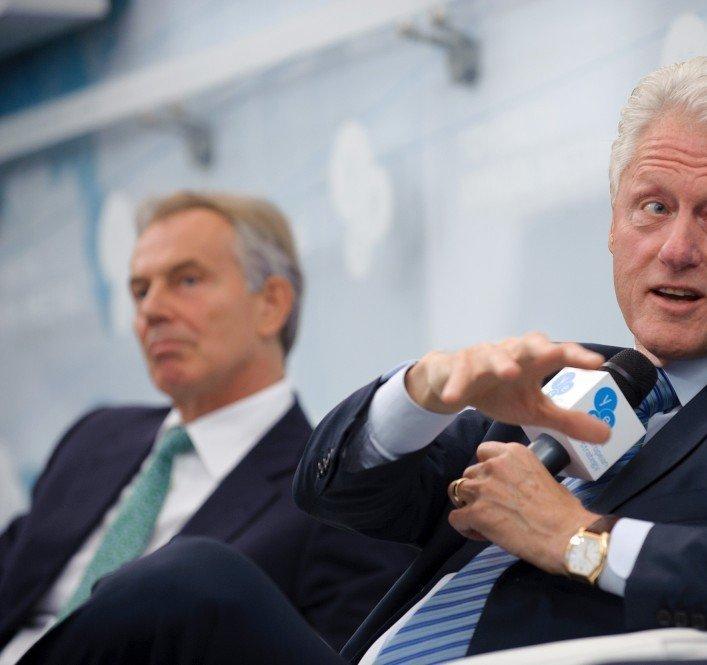 Билл Клинтон и Тони Блэр на 10-й встрече «Ялтинской европейской стратегии»