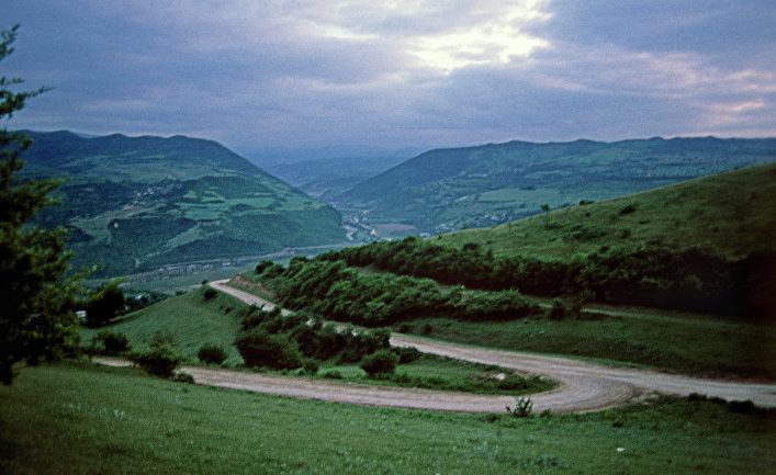 Трасса в горах Дагестана