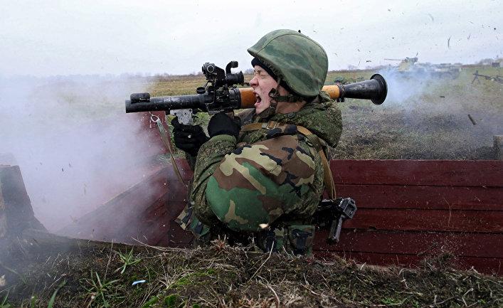 Учения морской пехоты в Калининградской области