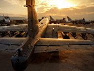 Российский штурмовик Су-25 на авиабазе «Хмеймим» в сирийской провинции Латакия
