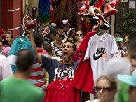 Уличный торговец в Сан-Паулу