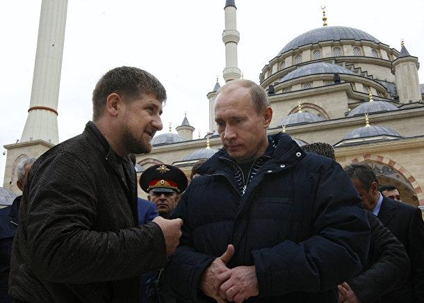 Поездка В.Путина в Чечню