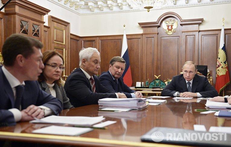 Президент России В.Путин провел экспертное совещание по экономическим вопросам
