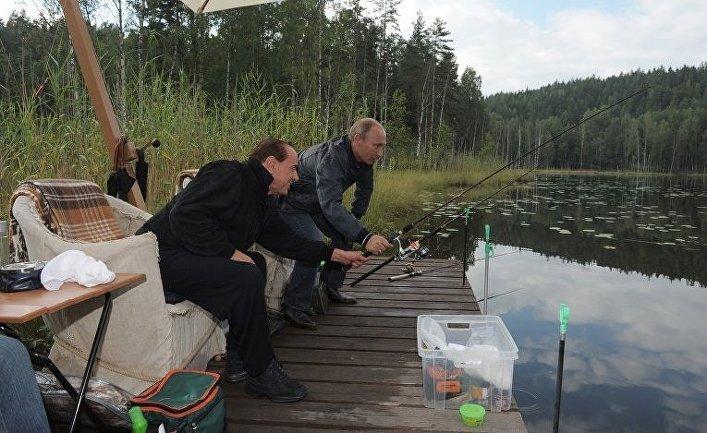 Сильвио Берлускони и Владимир Путин, 2011 г.