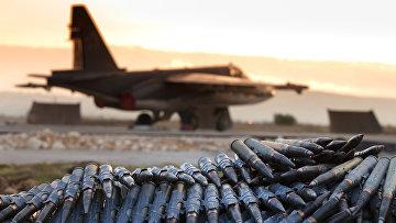 Российский самолет на авиабазе «Хмеймим» в сирийской провинции Латакия
