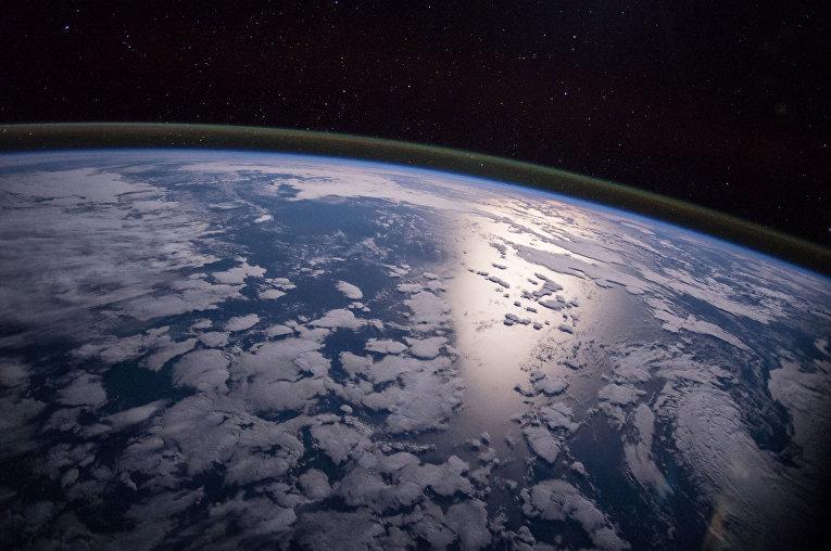 Фотография Земли, сделанная с Международной космической станции