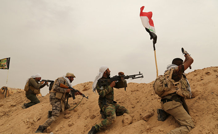 Шиитские ополченцы организации Бадр ведут бои с ИГИЛ в Ираке