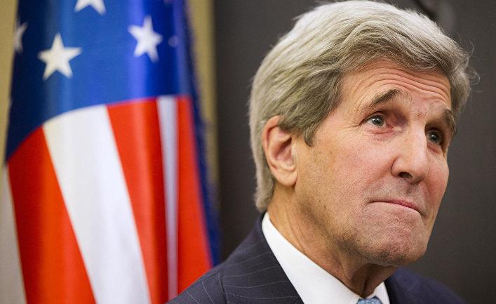 Государственный секретарь США Джон Керри на встрече с премьер министром Израиля Биньямином Нетаньяху