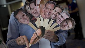 Портреты потенциальных кандидатов в президенты от Республиканской партии на выборах 2016 года