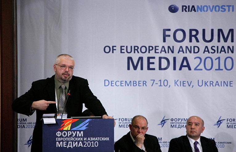 Председатель Союза журналистов Латвии Юрис Пайдерс