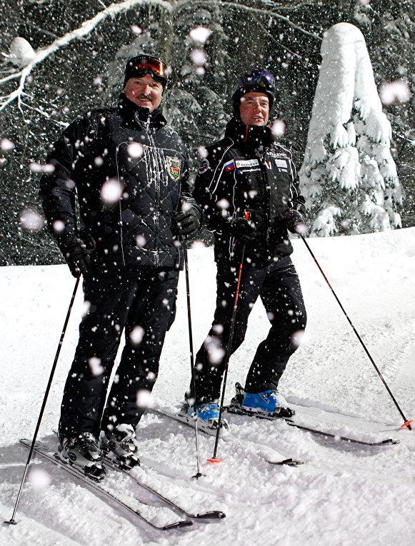 Неформальная встреча Д. Медведева и А. Лукашенко