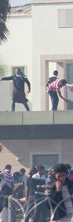 Беспорядки у посольства США в Тунисе
