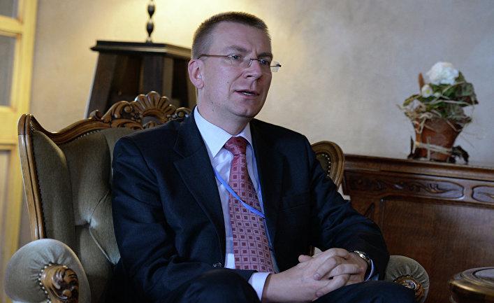 Министр иностранных дел Латвии Эдгар Ринкевич. Архивное фото