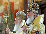 Патриарх Кирилл и патриарх Варфоломей в Храме Христа Спасителя