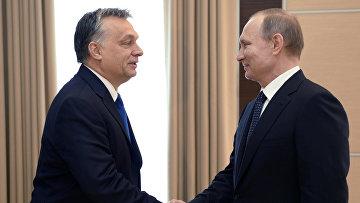 Встреча президента РФ В. Путина с премьер-министром Венгрии В. Орбаном