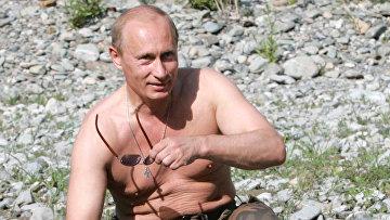 Поездка президента России Владимира Путина в Тыву