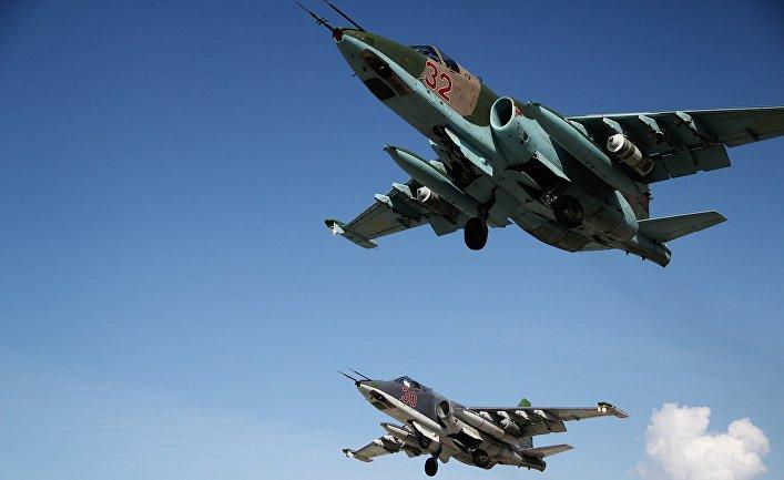 """Российская боевая авиация на авиабазе """"Хмеймим"""" в Сирии"""